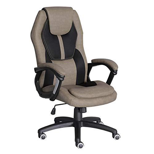 Büros Outlet Hanover Computer-Schreibtisch-Drehstuhl - höhenverstellbar - High Back - Kopfstütze - Lordosenstütze - Brown - Verkauf Workstation