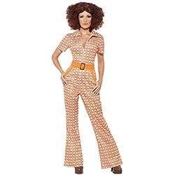 Smiffys Costume Chic Authentique des années 70, avec Combinaison