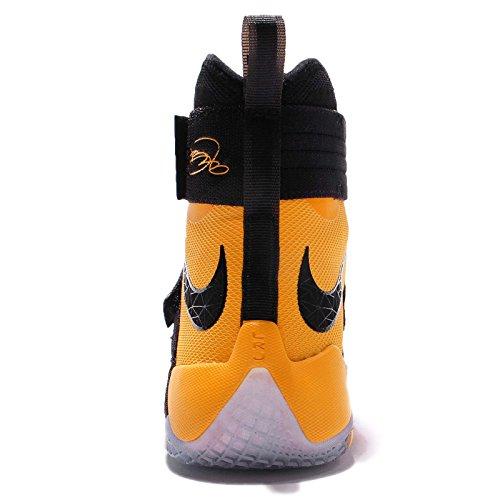 Nike Lebron Soldier 10 Sfg, Scarpe da Basket Uomo Nero/Nero-Oro (Black/Black-university Gold)