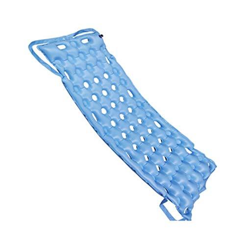 SHIN Luftdruck Massage Matratzen, Anti-Bett-Luftmatratze Antrieb Medizinische Behandlung Schmerzlinderung Verhindern Decubitus Streifen Einzelbett Pflege Ganzkörpermassage Mit Loch,Blau - Streifen Matratze