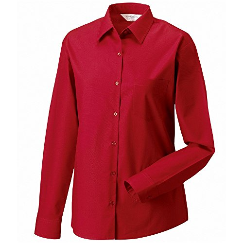 manica  3//4 Russell Collection camicia da donna popeline