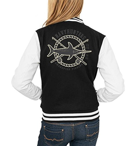 Swordfish Fishing College Vest Girls Negro Certified Freak-XL