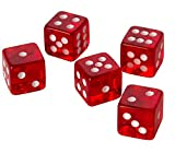 50 RED CASINO STYLE DICE / CRAPS - LARGE 19MM NEW