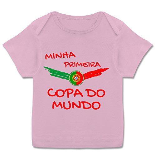 84 Mini-anhänger (Fußball-Europameisterschaft 2020 - Baby - Meine erste WM Portugal portugiesisch - 80-86 (18 Monate) - Rosa - E110B - Kurzarm Baby-Shirt für Jungen und Mädchen)