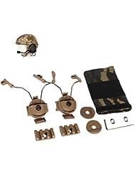 Z-Tactical casco ARC adaptador de carril Juego Auriculares para Comtac I/II Airsoft Wargame marrón