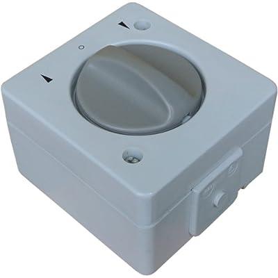 Wechselstrom 230V AC Jalousieschalter / Knebelschalter IP44 mit beidseitiger Tast- & Rastfunktion Feuchtraum spritzwassergeschützt Aufputz System: STERA von brr exactus GmbH bei Lampenhans.de