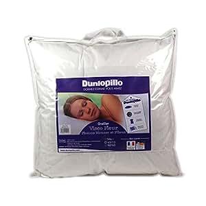 dunlopillo visco fleur oreiller blanc 60 x 60 cm cuisine maison. Black Bedroom Furniture Sets. Home Design Ideas