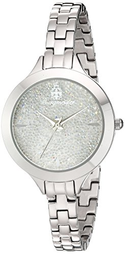 Burgmeister Femme Montre à quartz avec cadran blanc Affichage analogique et bracelet en acier inoxydable Argenté bm536–181