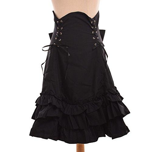 GRACEART Gotisch Steampunk Hoch Taille Rock Pirat Outfit (Large) (Piraten Outfits Für Damen)