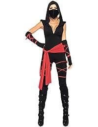 Disfraz De Halloween Con Capucha Mujer Bodycon Jumpsuit Pantalones