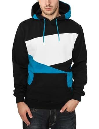 Urban Classics Herren Pullover Bekleidung Zig Zag Hoody mehrfarbig (Blk/tur/wht) Small