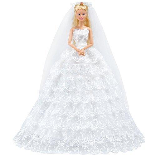 E-TING Handgefertigte Kleidung 1 Stk Organza Braut Abendkleid Set Party Gown Dresses Xmas für...
