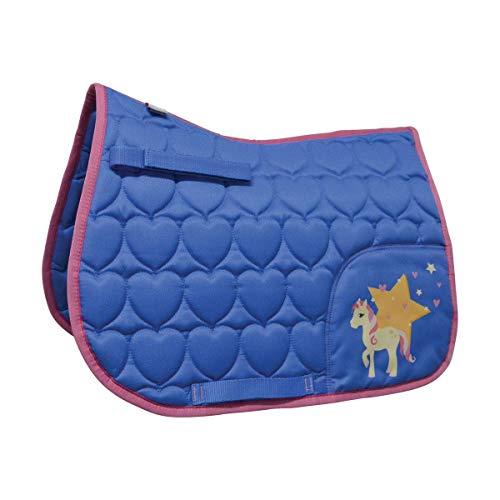 Little Rider Kinder/Kinder Star in Show Sattel Pad - Regatta Blau/Cameo Pink, Pony/Cob -