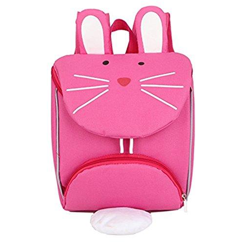 Sac à dos pour enfants, forme de chat rose