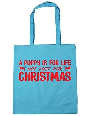 hippowarehouse un chiot est pour la vie, pas seulement pour Noël sac shopping Gym Sac de plage 42cm x38cm, 10litres - turquoise - Taille unique