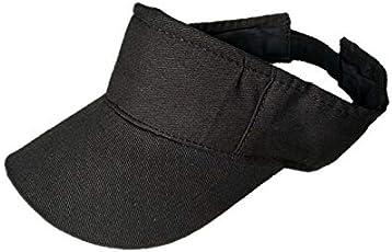 starstep Boys/Girls Stylish Plain Cotton Tennis/Golf sunvisor Cap (Black)