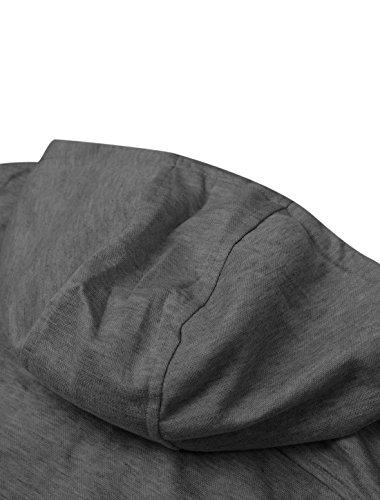 Sourcingmap -  Gilet sportivo  - Uomo Gray