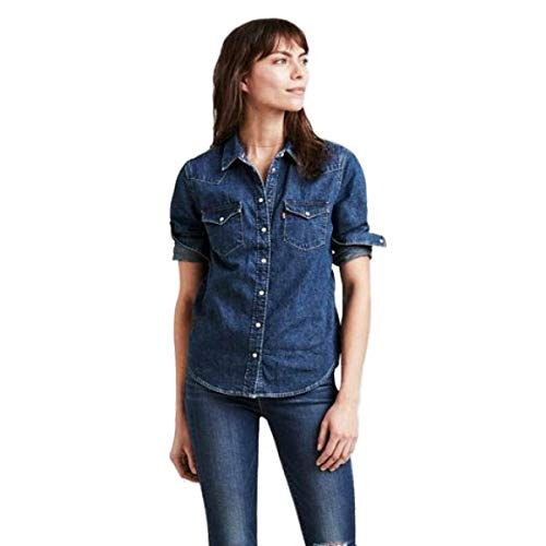 Levi's Damen Ultimate Western Hemd, Blau (Livin (1) 0001), X-Large (Herstellergröße: XL)