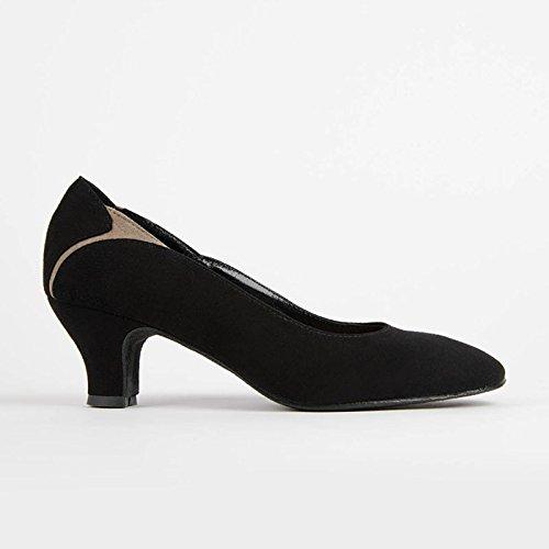 RUMPF Premium Line Handmade Sylvia Tanzschuh Tanz Pump Balett schwarz/beige 40 (Leder Pumps Tanz)
