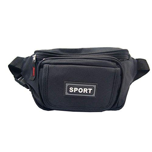 Sport 85502Unisex Adultos Riñonera, color Negro, talla 1.0