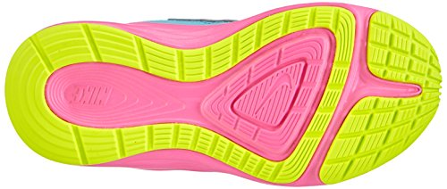 Nike - Fusion Run 3 (Psv), Scarpe da corsa Bambina Blu (Clearwater/Metallic Silver-Volt-Pink Power)