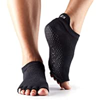 Toe Sox Half Toe Low Rise Yoga-Socken, Unisex Erwachsene S Schwarz