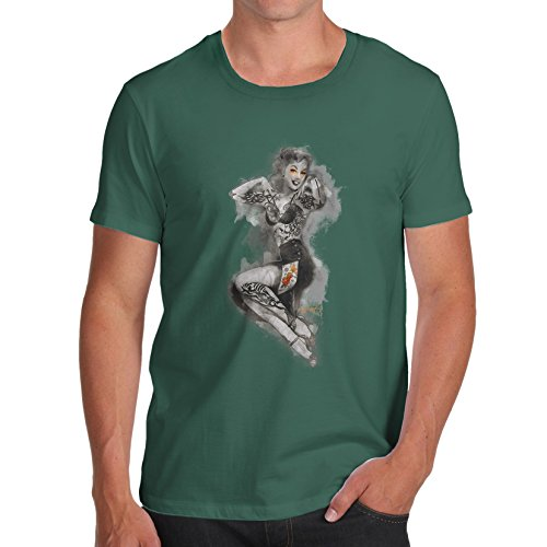 TWISTED ENVY  Herren T-Shirt Flaschengrün