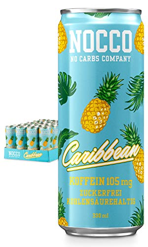Nocco BCAA Caribbean - Bebida Descripción técnica: BCAA 8:1:1 (leucina, valina y aislante): 2500 mg. maletín: 105 mg. NOCCO BCAA contiene BCAA (Branched Chain Amino Acid), L-Carnitine, té verde con EGCG, cafeína y seis vitaminas diferentes. Todos los...