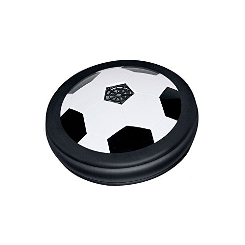Blossom New Air Power Football With Foam Bumpers and LED Lights for Indoor & Outdoor Play for Kids, Black
