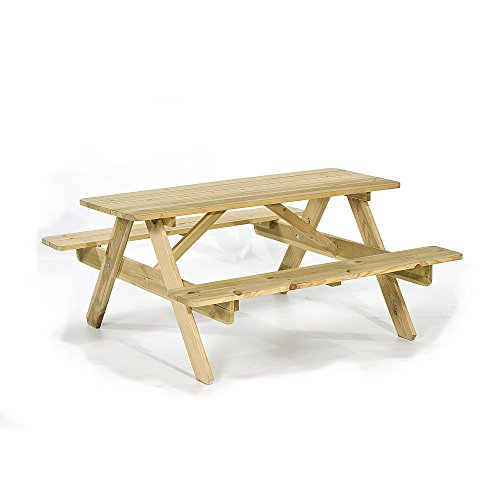Children's Wooden Picnic Table - Wood A Frame Picnic Table For Kids - Seats 6-120 Centimeter Length