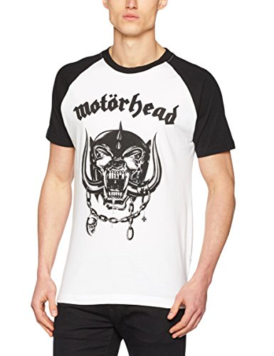 Urban Classics T-Shirt Motörhead Everything Louder, Farbe:wht/blk;Größe:S