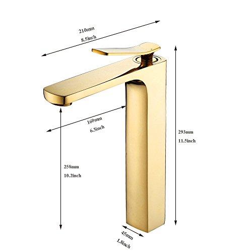 Qwer Oro sobre en color dorado Cuenca grifos de...