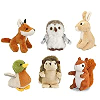 Living Nature AMZ05WL 6 Pack of Wildlife Buddies Soft Toys, Various