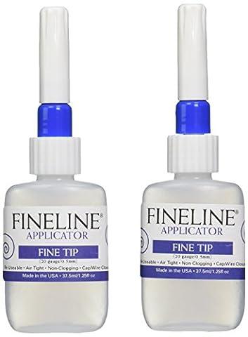 fines applicateurs en plastique Fine Line vide bouteille 2kg W/2calibre 20tips-1.25G