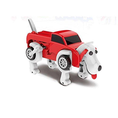 Sammlung Transformator-spielzeug (Auto Spielzeug, Huihong Verformbaren Auto Hund Kinder Spielzeug Transformator Neuheit Uhrwerk Auto Spielzeug Kinder Spielzeug Geschenk (Rot))