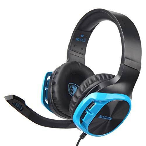 SADES R17Gaming Headset, Gaming-Kopfhörer, mit Mikrofon, Premium, Geräuschunterdrückung, Stereo, Bass mit für Nintendo Switch/3DS/PSP/Laptop/Computer/Tablet, iPad/Mobile Phone.
