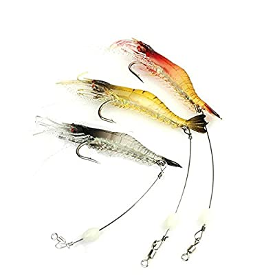 Bestok Fishing Lures Soft Plastic Baits Shrimp Frog Sea Fishing Tackle Hooks Pike Shad Trout Carp Bass Baits from Bestok