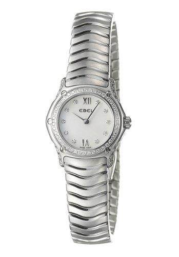 Ebel Damen-Armbanduhr CLASSIC WAVE Analog Quarz 9157F19-971025 - Ebel Diamanten Damen Uhren