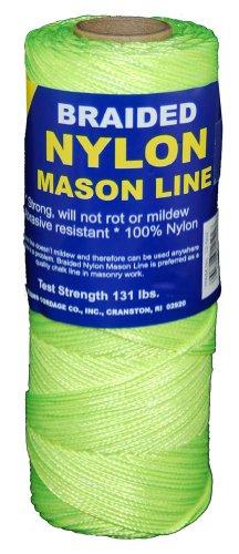 T.w. Evans Cordage 12–531 variété tressé en nylon Mason, 250-feet, Jaune fluorescent