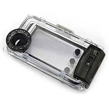 Boitier Photo étanche 40 m/m pour plongée sous-marine 130 nominale :  Coque pour téléphone portable, caméra étanche Submersible professionnel Coque de protection étanche pour iPhone 5/5S/5C (Noir)