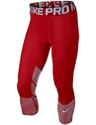 Nike Hypercool Max 3/4 Tgt - Mallas 3/4 para hombre, color rojo, talla M
