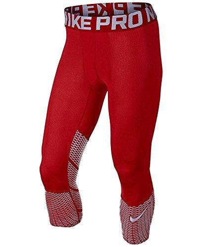 Nike Herren Pro Hypercool Max Three-Quarter Trainingstights Shorts rot/Silber