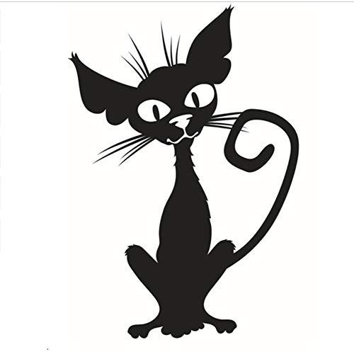 Halloween Magic Cat Wandaufkleber geschnitzt Pvc Home Decor für Hintergrund dekorative Spaß Aufkleber Poster Türen und Windows Aufkleber
