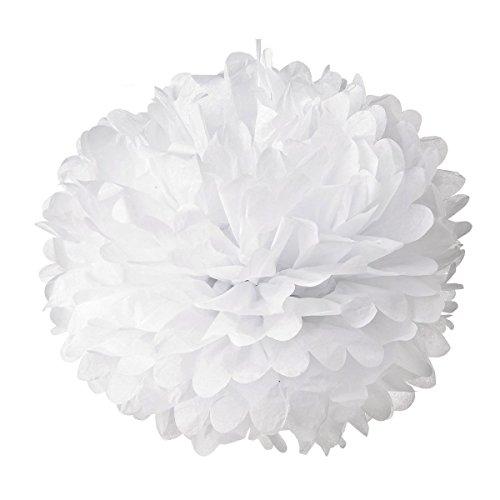 SUMERSHA Pompons Seiden Papier Blumen Blumenball Hochzeit Freien Dekoration 10 Stück (Cheerleader Dekorationen)