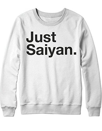 Sweatshirt Just Saiyan Son Goku Dragon Gohan Saiyajin C980012 Weiß - Vegeta Super Saiyajin Gott Kostüm