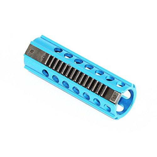 Airsoft Softair Ausrüstung CNC Stahl 14 Zähne Kolben für V2 Version 2 Getriebe Gearbox Blau (Stahl Kolben Airsoft)