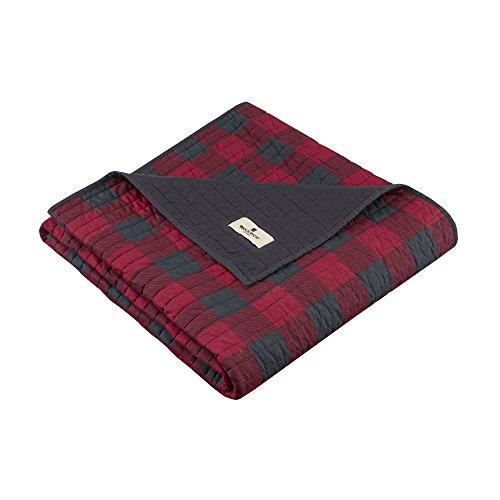 Woolrich, Inc. WR50-1780Check gesteppt Überwurf 127x 177,8cm rot, 127x 177,8cm Woolrich Throw
