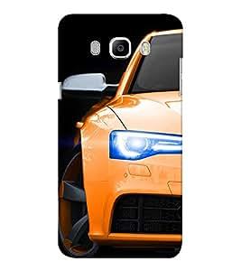 EPICCASE Orange Car Mobile Back Case Cover For Samsung J7 2016 (Designer Case)