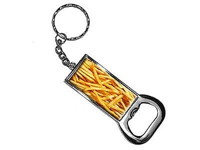 Pommes frites Anneau porte-clés ouvre-bouteille Bottlecap