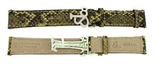 jacob-co-echtes-echt-python-kurz-20smm-grun-40-mm-watch-strap